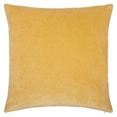 BuyJohn Lewis Plain Velvet Cushion, Pale Gold Online at johnlewis.com