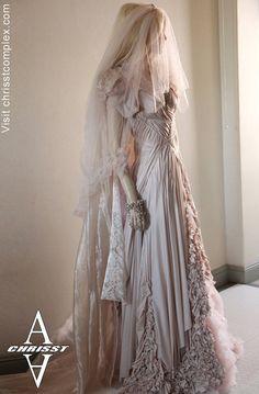 gothaesthetic:    Til Death: Gothic Fantasy Wedding Dress by Chrisst. $14,999.