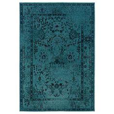 Oriental Weavers Belsburg Turquoise Area Rug | Lowe's Canada