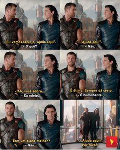 Thor e Loki❤️ Loki Marvel, Marvel Dc Comics, Tom Holland, Mundo Marvel, Ironman, Nerd, Dc Memes, Avengers Memes, Comics