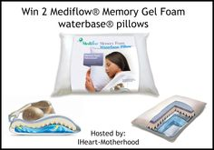 Housewife on a Mission: Mediflow Memory Gel Foam Waterbase Pillows | Guest...