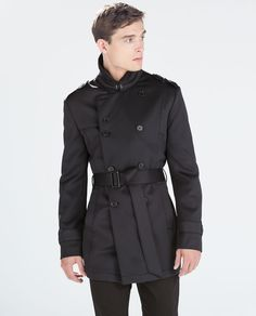 Image 3 of NEOPRENE TRENCHCOAT from Zara