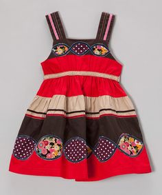 Take a look at this Red Stripe Dress - Infant, Toddler & Girls by the Silly Sissy on #zulily today!