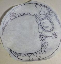 Moon tattoo sketch