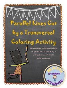 Parallel Lines Cut by a Transversal Coloring Activity