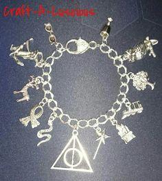 <Harry Potter> Themed Charm Bracelet Uk Shop, Harry Potter, Swag, Charmed, Bracelets, Crafts, Jewelry, Style, Bangles