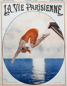 Léo Fontan (1884 – 1965). La Vie Parisienne, 29 Juillet 1922. [Pinned 10-vii-2020] Retro Illustration, Illustrations Posters, France, Cover, Movie Posters, World War One, Art, Astronomy, Woman