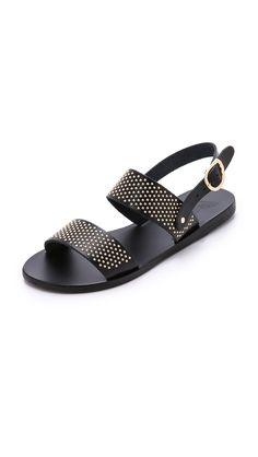 Ancient Greek Sandals Dinami Sandals - Black/Gold | SHOPBOP.COM saved by #ShoppingIS
