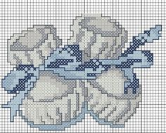 Baby shoes baby boy cross stitch