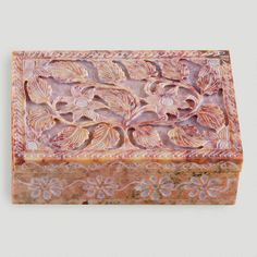 One of my favorite discoveries at WorldMarket.com: Carved Soapstone Box