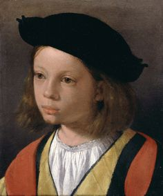 What a sweet face! A Boy, ca. (attributed to Giorgione) Felder Old Master Paintings, London Renaissance Portraits, Renaissance Paintings, Andrea Mantegna, Potrait Painting, Blood Art, Italian Renaissance, Children Images, Italian Artist, Barbarella
