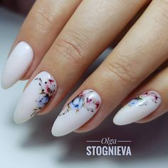 Want some ideas for wedding nail polish designs? This article is a collection of our favorite nail polish designs for your special day. Nail Art Designs, Flower Nail Designs, White Nail Designs, Nail Polish Designs, Nails Design, Spring Nails, Summer Nails, Wedding Nail Polish, Gel Nagel Design