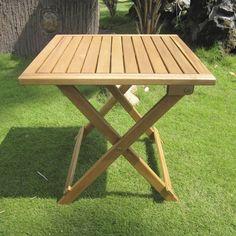 Fold Away Wooden Garden Table