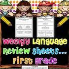 These review sheets cover the following First Grade Common Core Standards:1.L.1-common and proper nouns-possessive nouns-subject/verb agreemen...