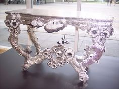Cool, digitally designed and machine made console table by Joris Laarman