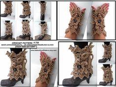 Crochet Leg Warmers, Arm Warmers, Yarn Sizes, Boot Cuffs, Fingerless Gloves, Crochet Shrugs, Crochet Patterns, Lace Up, Legs