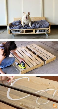 You can complete this pallet dog bed DIY project in just a few hours. All you need is a pallet and a few common tools. Just follow this step-by-step tutorial by Rachel Metz of Living to DIY. See it on The Home Depot Blog. || @rachel_metz