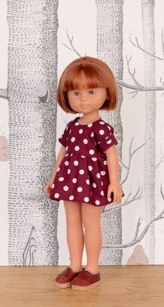 Cerise, exclusivité Makerist, Robe pour poupée de 32 cm à 34 cm, Chéries de Corolle, Amigas Paola Reina, Minouche de Petitcollin chez Makerist