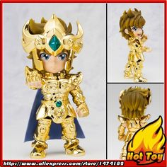 "32.76$  Buy now - http://ali87k.shopchina.info/1/go.php?t=32788217921 - ""100% Original BANDAI Tamashii Nations Saint Seiya Daizenshuu Collection Toy Figure - Leo Aiolia from """"Saint Seiya""  #buymethat"