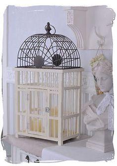 Casetta Per Uccelli Shabby Chic Gabbia Per Uccelli Bianco Voliera in Casa, arredamento e bricolage, Decorazione della casa, Altro decorazione della casa   eBay