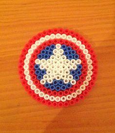 Perler Beads - Captain America's Shield Sophia S.