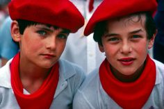 Basque boys Pamplona, Spain by Blaine Harrington. Strangely, I see my face in the boy on the left...