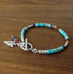 Capture the essence of the desert southwest each time you wear this fabulous multi gem and turquoise bracelet! A great little accessory to wear with everything from your jeans and boots all the way to tailored suits for the office. Perfect worn on its own, as a stackable bracelet with others of your favorite bracelets and with other southwestern jewelry from my shop - my coordinated convertible necklace/wrap bracelet! (link below) OR give it as a gift (maybe a Christmas gift or a stocking…