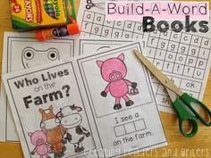 Creating Readers and Writers: Build-A-Word Books. Practice phonemic awareness, phonics, sight words, vocabulary (ELLs), and fluent reading with this no-prep book-making activity.