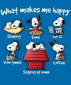 What makes me happy by NemiMakeit Peanuts Cartoon, Peanuts Snoopy, Snoopy Pictures, Funny Pictures, What Makes You Happy, Are You Happy, Charlie Brown Y Snoopy, Minions, Snoopy Und Woodstock