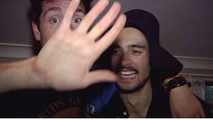 Dan Smith (and his hand) and Kyle Simmons