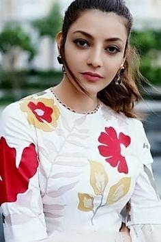 Kajal Aggarwal Brown Hair Colors, Baby Dolls, Ruffle Blouse, Graphic Sweatshirt, Actresses, Sweatshirts, Sweaters, Photography, Tops