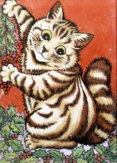 """Christmas Cat"" by Louis Wain"