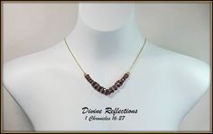 Purple Crystal Necklace V Necklace One of a by DivineReflections