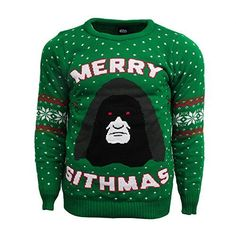 Merry Sithmas Official Star Wars Christmas Jumper / Sweater (X Small) Cheap Christmas Sweaters, Star Wars Christmas Sweater, Christmas Jumpers, Holiday Sweater, Disney Christmas, Ugly Sweater, Pulls, Merry, Shopping