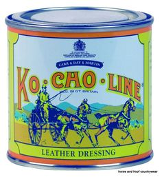 Carr Day Martin Ko-Cho-Line Leather Dressing A thick grease that protects leather from mould and mildew whilst in storage Also renovates softens and reviews saddlery leather.