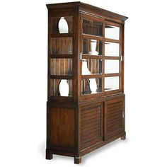 Tea Trade China Cabinet ($2,799) ❤ liked on Polyvore