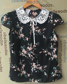 """259 Me gusta, 5 comentarios - Sibelle Modas (@sibellemodas) en Instagram: """"Blusa crepe print golinha guipir R$139,00 Tam P(38) M(40) G(42) ▶️Site para compras…"""""""
