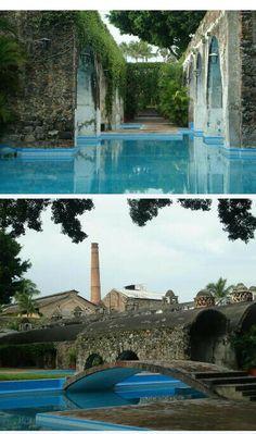 Ex Hacienda Tamixco., En Morelos. Actualmente balneario y Jardin de eventos.