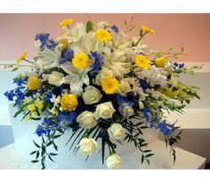 Send the perfect flowers from Fillmore Florist San Francisco. We offer the freshest and most beautiful flowers for San Francisco flower delivery. Casket Flowers, Grave Flowers, Cemetery Flowers, Funeral Flowers, Cemetery Vases, Blue Flower Arrangements, Funeral Floral Arrangements, Contemporary Flower Arrangements, Funeral Caskets