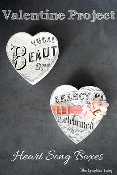 Valentine Project - DIY Heart Boxes from a dollar store candy box + a technique for adding a glitter pattern w/ Mod Podge Rocks Stencils!
