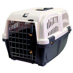 Martin-Sellier Skudo Iata Transportbox für Hunde / Katzen, 48 x 31 x 31 cm, Grau - http://www.transportbox-katzen.de/produkt/martin-sellier-skudo-iata-transportbox-fuer-hunde-katzen-48-x-31-x-31-cm-grau/