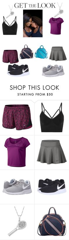 """""""Get on our level!"""" by princessxkira ❤ liked on Polyvore featuring NIKE, Jewel Exclusive, Cinda B, GetTheLook and celebritysiblings"""