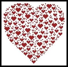 Valentine Heart Cross Stitch Pattern