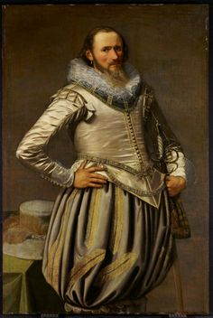 1624 Wybrand Symonsz.. de Geest I - Portrait of a Man Now those are substantial upperstocks!