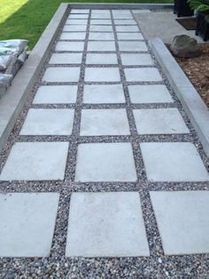 Image result for tiles with gravel in between driveway