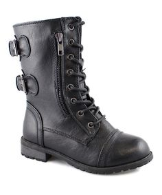 Look at this Link Black Mango Boot on #zulily today!