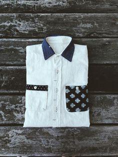 Kiriko boro patch button up shirt. www.kirikomade.com