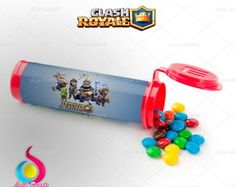 Rótulo Tubo Mini M&M Clash Royale