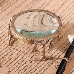 Ink:  Desktop #magnifying #glass and #pen.