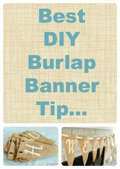 DIY Burlap Banner @ItsOverflowing